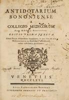 view Antidotarium Bononiense