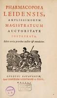 view Pharmacopoea Leidensis, amplissimorum magistratuum auctoritate instaurata.