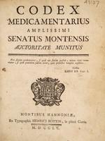 view Codex medicamentarius ... Senatus Montensis auctoritate munitus.