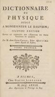view Dictionnaire de physique / Par M. Aimé-Henri Paulian.
