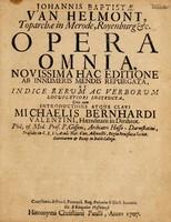 view Johannis Baptistae van Helmont ... Opera omnia