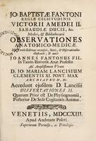 view Observationes anatomico-medicae / [Giovanni Battista Fantoni].