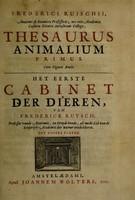 view Thesaurus animalium primus ...
