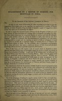 view Suggestions on a system of nursing for hospitals in India / [Florence Nightingale].