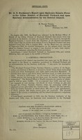 view Dr. G.S. Buchanan's report to the Local Government Board upon epidemic enteric fever in the Urban District of Hucknall Torkard and upon sanitary administration by the District Council / [G.S. Buchanan].