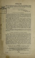 view Dr. G.S. Buchanan's report to the Local Government Board upon epidemic diphtheria in the borough of Tunbridge Wells  / [G.S. Buchanan].