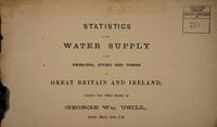 view Statistics of the water supply of the principal cities and towns in Great Britain and Ireland, compiled from official returns