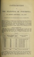 view Contribution to the statistics of pneumonia