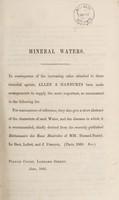 view Mineral waters / [Allen & Hanburys].
