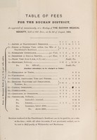 view Table of fees for the Buchan District : as approved of, unanimously, at a meeting of the Buchan Medical Society, held at Old Deer, on the 2d of August, 1864.