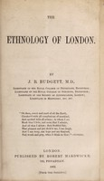 view The ethnology of London