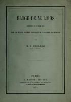 view Éloge de M. Louis