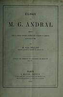 view Éloge de M.G. Andral