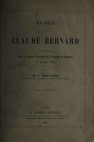 view Eĺoge de Claude Bernard.