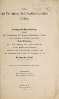 view Ueber ein Carcinom der Bartholonischen Drüse / Johannes Geist.