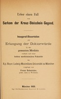 view Ueber einen Fall von Sarkom der Kreuz-Steissbein-Gegend ... / vorgelegt von Franz Schnitzler.