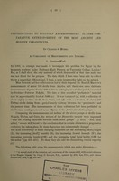 view Contributions to Egyptian anthropometry. II, The comparative anthropometry of the most ancient and modern inhabitants