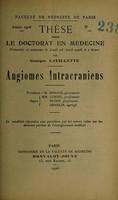 view Angiomes intracraniens ... / par Georges Lavillette.