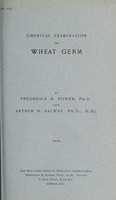 view Chemical examination of wheat germ