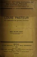 view Louis Pasteur : Ein Lebensbild des grossen Forschers