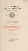 view Declination of the pars basilaris in normal and in artificially deformed skulls