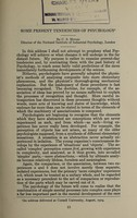 view Some present tendencies of psychology / by C.S. Myers.