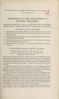 view Proceedings of the Association of Economic Biologists ordinary meeting held at 2.30 p.m. on May 13th, 1927, in the Imperial College of Science ... : discussion on plant alkaloids.