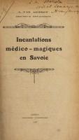 view Incantations médico-magiques en Savoie