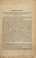 view President's address : delivered ... at the 1930 United States Pharmacopoeial Convention ... in Washington, D.C