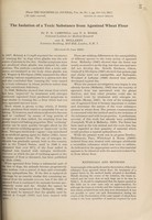 view The isolation of a toxic substance from agenized wheat flour / by P.N. Campbell and T.S. Work and E. Mellanby.