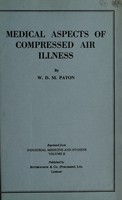 view Medical aspects of compressed air illness