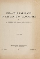 view Infantile paralysis in 17th century Lancashire