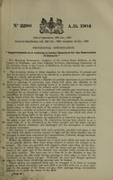 view Improvements in or relating to lethal chambers for the destruction of animals / [Bertram Richardson].