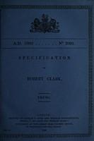view Specification of Robert Clark : truss.