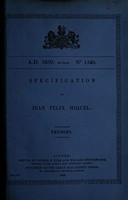 view Specification of Jean Felix Miquel : trusses.