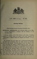 view Specification of Thomas Atkins : feeding bottles.