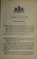view Specification of Alexander Southwood Stocker : feeding bottles, &c.