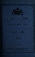 view Specification of William Bailey : trusses.