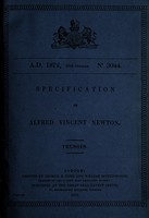 view Specification of Alfred Vincent Newton : trusses.