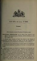 view Specification of Henry John Porter : trusses.