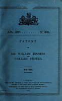 view Patent of Sir William Jennens and Charles Stisted : baths.