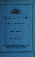 view Specification of John Jekyll : vapour baths.