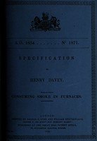 view Specification of Henry Davey : consuming smoke in furnaces.
