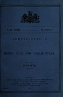 view Specification of Henry Dubs and Josiah Evans : furnaces.
