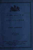 view Specification of James Anderson : furnaces.