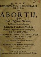 view Dissertatio inauguralis medica, de abortu