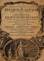 view Disputatio medico-practica sistens plethorae naturam ortum atque effectus ... / [Christian Joseph Löber].