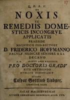 view De noxis ex remediis domesticis incongrue applicatis ...