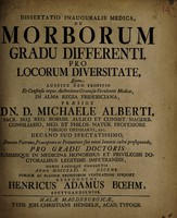 view Dissertatio inauguralis medica, de morborum gradu differenti, pro locorum diversitate ...