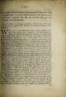 view An extract of some physico-mathematical discourses contained in Mr. Cotes's Hydrostatical and pneumatical lectures : printed for the use of those that go the course of experiments.